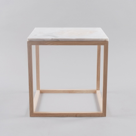 Kristina Dam Oak Table With White Marble Top