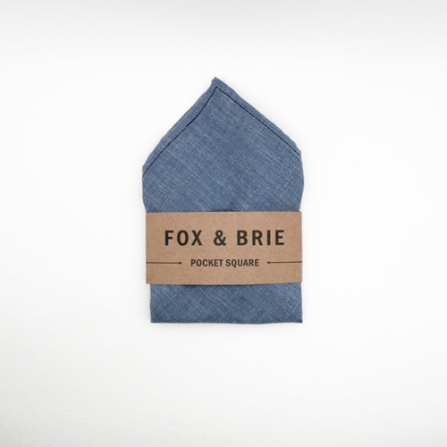 Carolina Chambray pocket square by FoxandBrie on Etsy