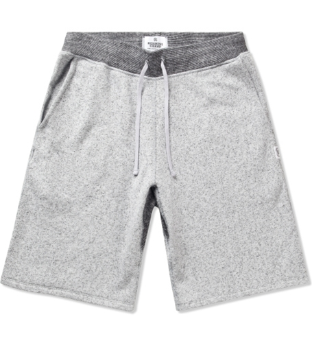 Reigning Champ White Black Rc 5019 17 Knit Tiger Terry Sweatshort Hypebeast Store