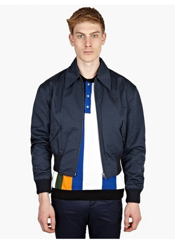 Men's Swallow Jacquard Bomber Jacket