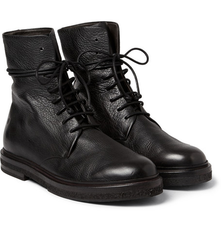Marsell Full Grain Leather Lace Up Boots Mr Porter