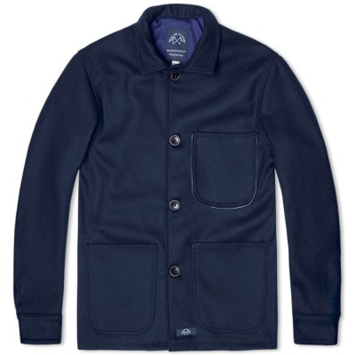 Bleu De Paname Wool Counter Jacket Marine