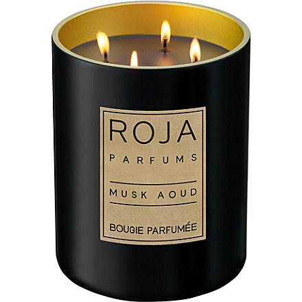 Roja Parfums Musk Aoud Large Candle Selfridges.Com
