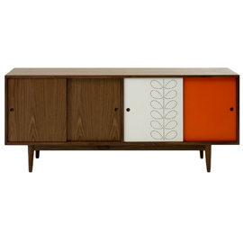 Heal 39 s orla kiely rowan sideboard orange and white nuji for Sideboard orange