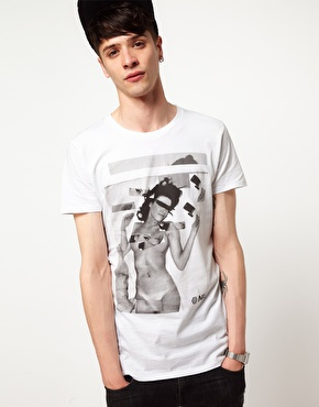 New Love Club New Love Club Nude T Shirt at ASOS
