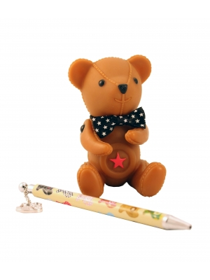 Teddy Bear Pen And Holder Set Only 10.19 Unique Gifts Home Decor Karma Kiss
