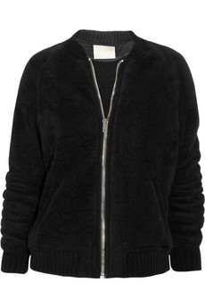 IRO Textured faux suede jacket 55 Off Now at THE OUTNET