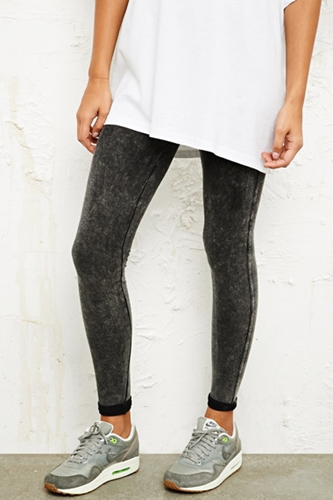 Sparkle Fade Acid Wash Side Seam Leggings At Urban Outfitters