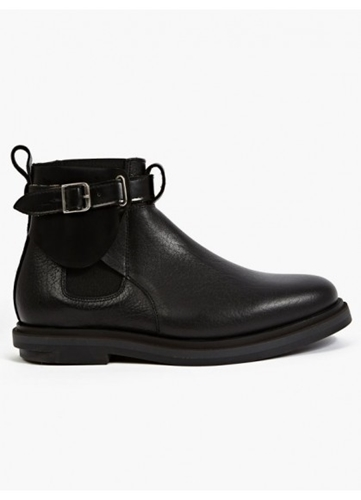 Purified Men's Black Contrasting Leather Boots Oki Ni