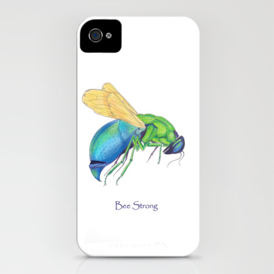 Bee Strong iPhone Case by Catherine Holcombe Society6