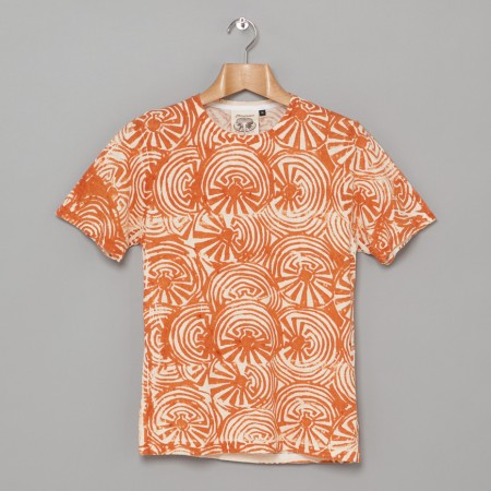 6 2 oz Batik Print Tee Orange Oi Polloi