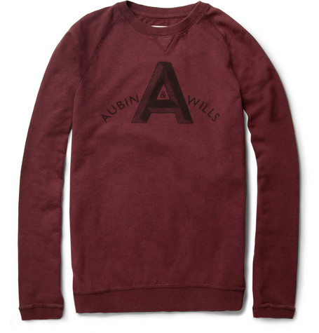 Aubin Wills Heugh Printed Cotton Jersey Sweatshirt MR PORTER