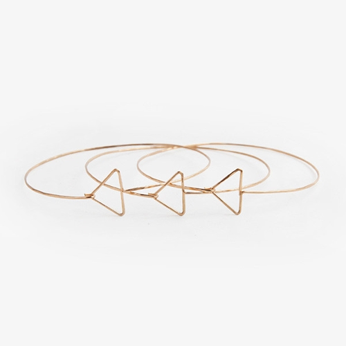 Geometric Arrow Bracelet Set Poketo