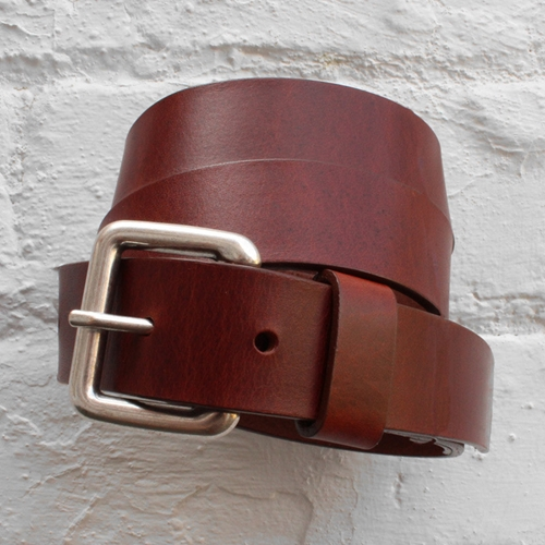 Norse Projects Benjamin 30 Leather Belt Raw Brown Fusshop