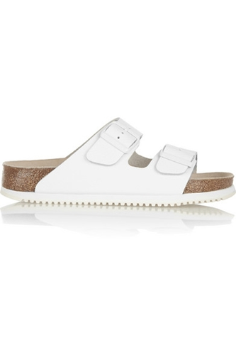 Birkenstock Arizona Textured Leather Slides Net A Porter.Com