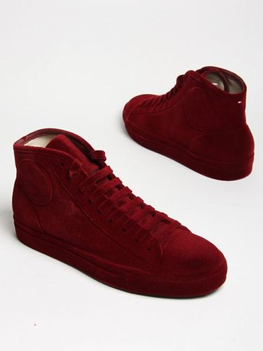 Maison Martin Margiela Flocked Red Velvet Sneakers MINT eBay