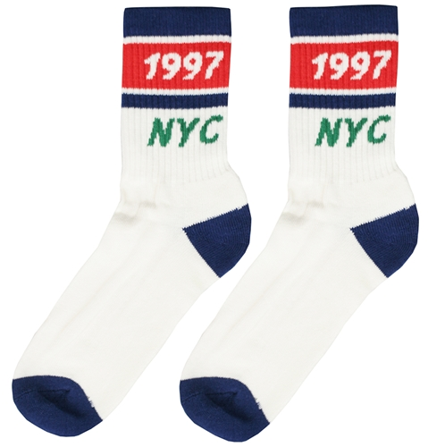 Only Ny Track Socks In White Huh. Store