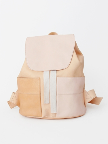 Yue Pocket Backpack Natural Raw Pour Porter