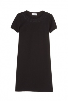 Tulle Insert Knit Dress By Red Valentino