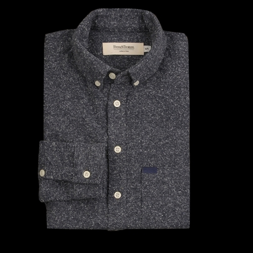 Unionmade French Trotters Wool Sam Shirt In Chine Navy