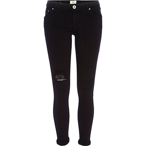 Black Ripped Cara Superskinny Reform Jeans Skinny Jeans Jeans Women