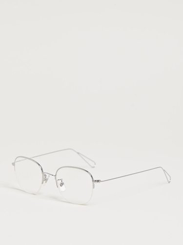 Garrett Leight X Mark Mcnairy Men's Silver Optical Glasses Ln Cc