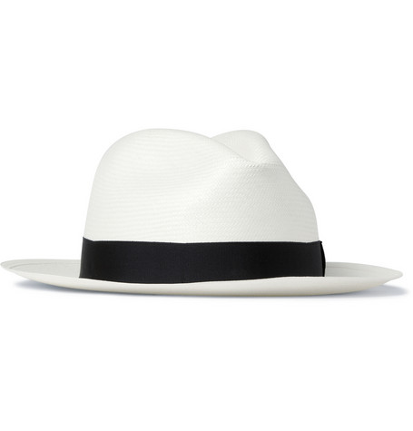 Borsalino Medium Brim Woven Straw Panama Hat Mr Porter