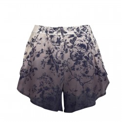 Dalston Rose Waisted shorts Cream Navy Clothing