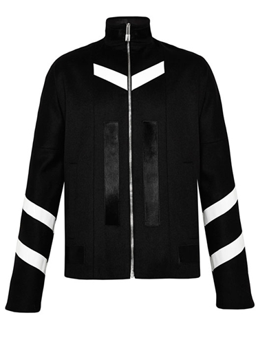 Nicomede Talavera Mens Wool Zip Up Sports Jacket With Leather Applique Ln Cc