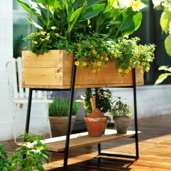 Raised Grow Box Pine Gardening Outdoor Finnish Design Shop