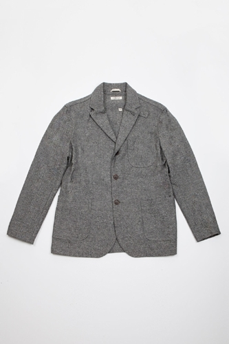The Hill Side Veste Herringbone Tweed Centre Commercial