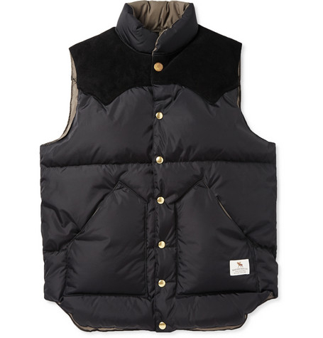 Neighborhood Rocky Mountain Down Filled Suede Panelled Shell Gilet Mr Porter