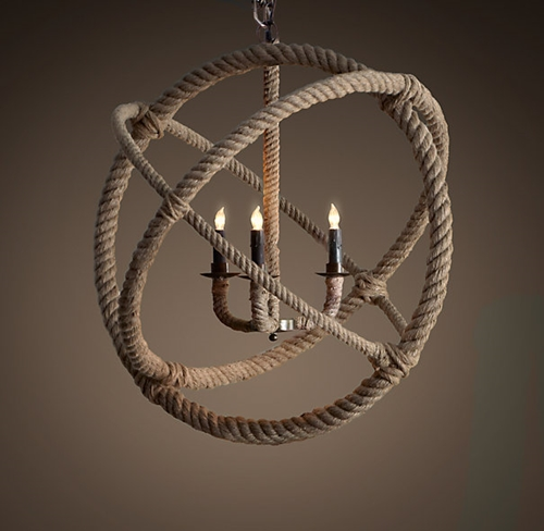 Rope Planetarium Chandelier Medium Chandeliers Restoration Hardware