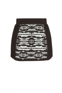 Devak Jacquard Front Panel Skirt By Dagmar