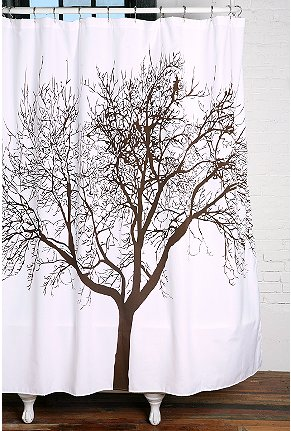 UrbanOutfitters com Tree Shower Curtain