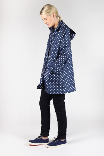 Good As Gold Online Clothing Store Mens Womens Fashion Streetwear Nz Rainy Days Coat Blue Polka Dot