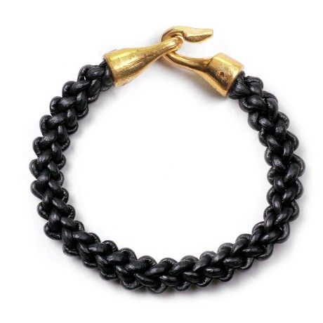 Kapok George Frost Zipper Harpoon Bracelet Brass Black