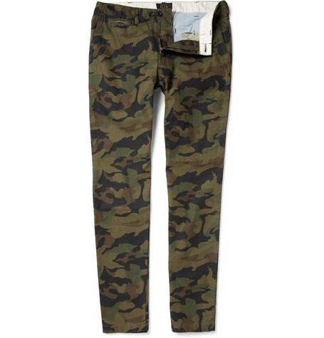 Beams Plus Camouflage Print Tapered Cotton Trousers MR PORTER