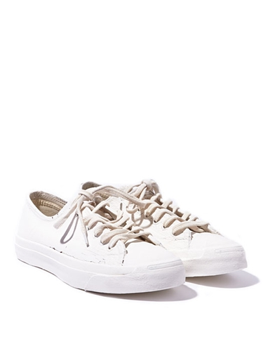 Converse X Maison Martin Margiela Jack Purcell Painted Leather Sneakers In Biking Red Ln Cc