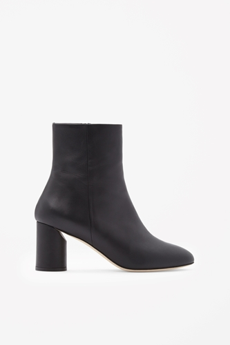 Round Heel Leather Boots