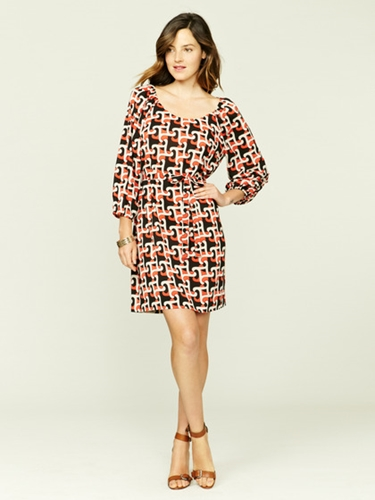 Printed Crepe Belted Dress by Alex Alex at Gilt