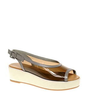 ASOS ASOS WHISTLE Leather Perspex Flatforms at ASOS