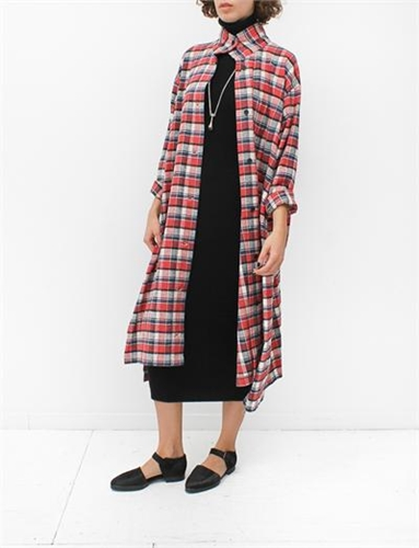 Creatures Of Comfort Leisa Dress Plaids Red