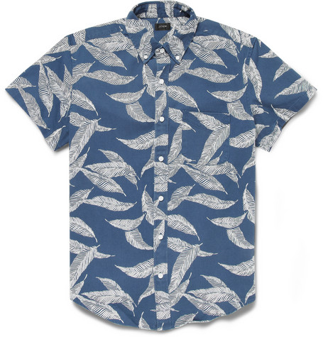 J.Crew Printed Cotton Twill Short Sleeved Shirt Mr Porter