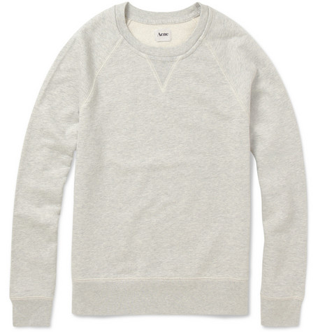 Acne College Crew Neck Cotton Sweatshirt MR PORTER