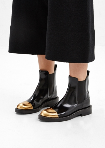 Totokaelo Marni Coal Metallic Toe Chelsea Boot