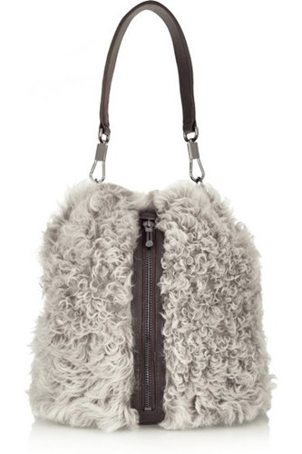Elizabeth And James Cynnie Sling Leather Paneled Shearling Backpack Net A Porter.Com