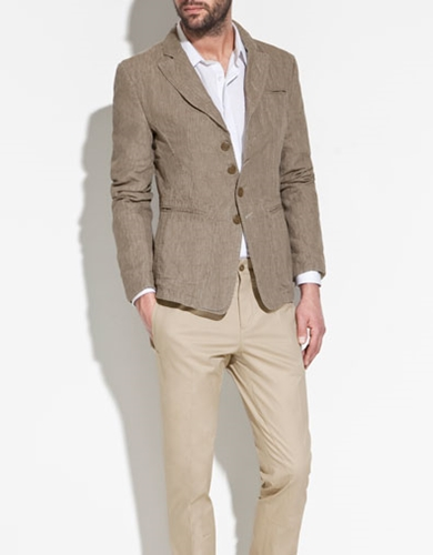 4 BUTTON LINEN BLAZER Blazers Man ZARA United Kingdom