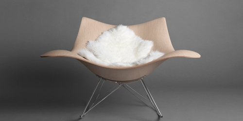 Mjolk Sting ray rocking chair by Thomas Pedersen sting ray web