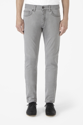 Grey tapered jeans